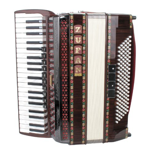 Zupan Alpe IV 120 EA/M Cassotto Akkordeon + Trageriemen + Poliertuch + Luxuskoffer (120 Bass, 42 Diskant, Cassotto, Perlmutt Auflage und Luftknopf) Palisander