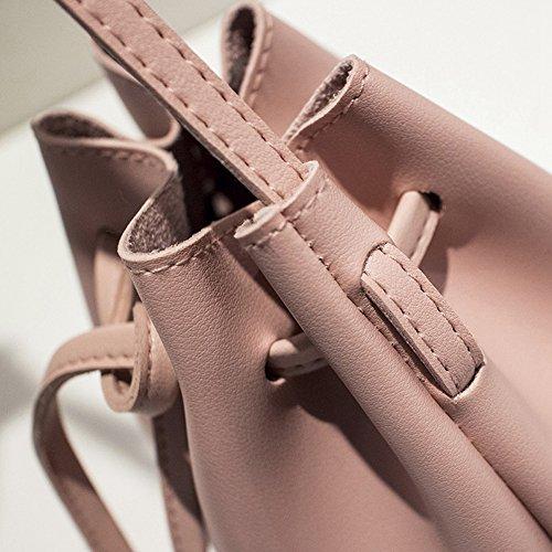 Frauen Schultertaschen Mini Eimer Tasche Cute Feminine & Von Crossbody Kleine Taschen PU Leder Pink