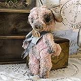 handmade4u Vintage Künstler-Schwein Teddy Antik 25cm Schwein Puppe Schweinchen Designpuppe