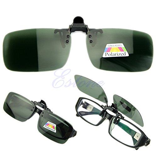 Lamdoo New Day Nachtsicht Polarisierte Driving Clip-on Flip-up Objektiv Sonnenbrille Gläser Tiefgrün M