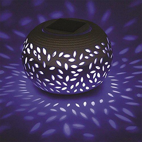 XYDM Keramik Solar Wandleuchte Wasserdicht Durchbrochen 8 Farben Veränderung Mosaik Nachtlicht Garten Pfad Terrasse Dekoration (Mosaik-wandleuchte Licht)
