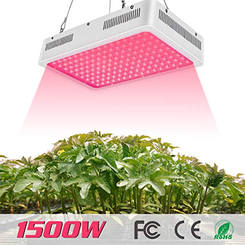 TOPLANET 1500W Led Pflanzenlampe Grow Light Full Spectrum 1900k 3-5 Times HPS für Innen Gewächshaus Grow Box Gemüse Kraut Blume Wachsen
