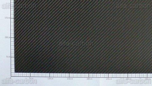 Carbon Platte 3mm x 500mm x 100mm CFK Platte seidenmatt (Carbon-platte)