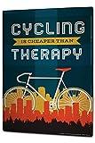 Plaque émaillée Posters Enseignes en métal Panneaux Plaques XXL Ale Amusement Thérapie de bicyclette