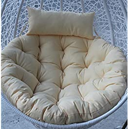 WL Coussin de siège de rotin épais anti-dérapant pendaison,Coussin de fauteuil balançoire amovible Tisser des coussins…