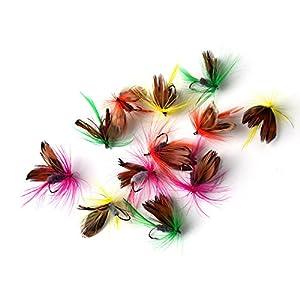 URNINAUEU 12 pcs Butterfly Fishing Flies Hook Dry Fly Lures Barb Single Lead Head Hooks Fans Necessary Jig 2cm Hook Tackle from URNINAUEU