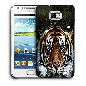 Snoogg Jungle Tiger Printed Protective Phone Back Case Cover For Samsung Galaxy S2 / S II