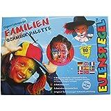 Eulenspiegel 208014 - Schminkset Familie, Schminkpalette, Pinsel und Anleitung, 8 Farben