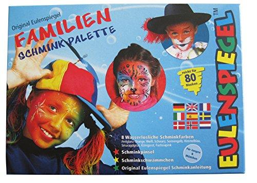 Eulenspiegel Familien- Schminkpalette, 8 Farben