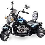 Toyz  - Caretero Rebel Elektro Kindermotorrad Kinderfahrzeug, schwarz