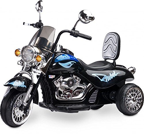 #Toyz  – Caretero Rebel Elektro Kindermotorrad Kinderfahrzeug, schwarz#