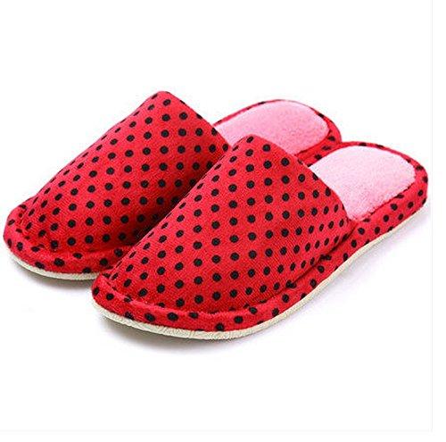Automne et Hiver Pantoufles Femme Coton et lin lin Pantoufles Indoor Wood Flooring Pantoufles en tissu doux épais de base anti-dérapant ( couleur : # 1 , taille : 41-42 ) N ° 2