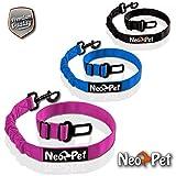 NeoPet Hundegurt Fürs Auto, 2 Größen für Große und Kleine Hunde, Hunde-Sicherheitsgurt, Hunde-Anschnall-Gurt, Hund-Auto-Gurt Zum anschnallen für die Rückbank, Größe S-M, Pink/Rosa