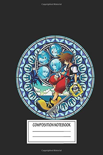 Notebook: Sora's Dive To The Heart Stained Glass Kingdom Hearts , Journal for Writing, Size 6' x 9', 164 Pages