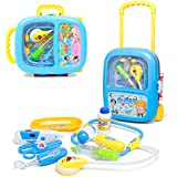Wishkey Latest Doctor Play Set With Trolley Suitcase, Premium Quality, Toys Great For Role Play| Pretend Play, Doctor Set Kit With All Medical Equipments For Kids, Medical Kit With Light And Sound Effects