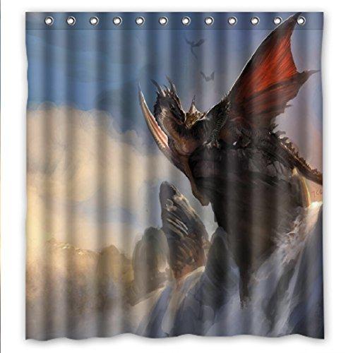 t Drachen Dragon Wasserdichtes Duschvorhang Bath Shower Curtain 167cm x 183cm ()