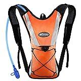 Kuyou Trinkrucksack mit 2L Trinkblase, Hydration Rucksack Ultralight Laufrucksack mit Trinksystem für Camping, Wandern, Reisen, Laufen