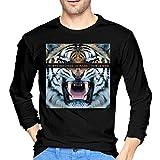 Photo de T-Shirts à Manches Longues, Homme, Hauts, Chemises Casual, T-Shirts et Tops de Sport, Men's 30 Seconds to Mars This is War Cotton Long Sleeve Tshirt Black par BYYKK