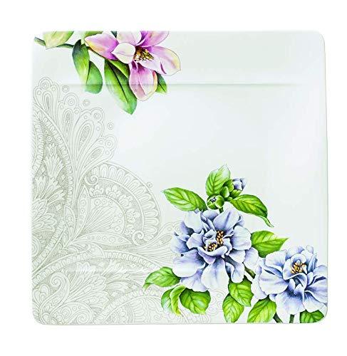 Villeroy & Boch quinsai Garten Mot. C Teller flach, Porzellan, Mehrfarbig, 27x 27cm Flower Garden Teller