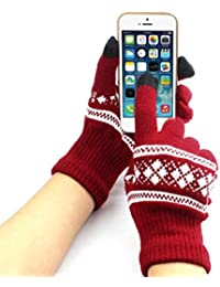 Damen Winter Handschuhe Bovake New Jacquard Unisex Screen Weiche Handschuhe Handschuh Warm Winter Strick
