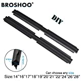 """FIOLTY BROSHOO 2PCS/Lot Car Auto Vehicle Insert Natural Rubber For Valeo Type Wiper Blade Only (Refill) 8mm 14"""" To 28"""" Accessories : 2PCS 26 Inch 650mm"""