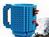 BJE Creative Build-On Brick Blocks Lego Style Puzzle Plastic Coffee Tea Mug Creative Funny Cup Mugs Drinkware 350ml ( Colors May Vary)