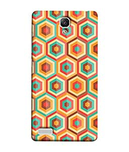 Xiaomi Redmi Note, Xiaomi Redmi Note 4G, Xiaomi Redmi Note Prime Back Cover Abstract Diamond Background Design From FUSON