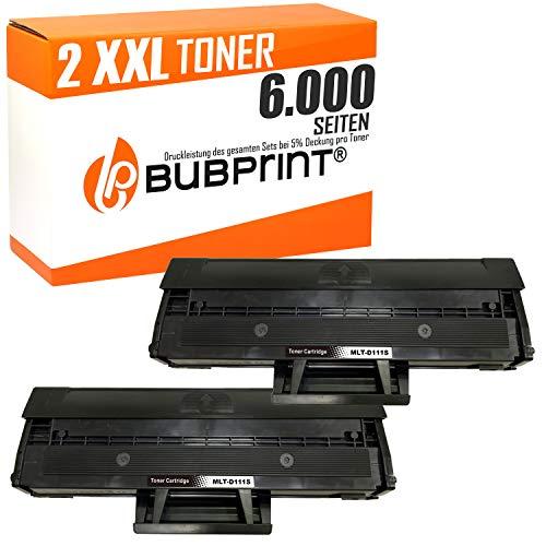 2 Bubprint XXL Toner 200 Prozent mehr Inhalt kompatibel für Samsung MLT-D111S für Xpress M2020 M2020W M2021W M2022 M2022W M2026 M2026W M2070 M2070F M2070W M2070FW Schwarz