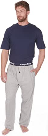 Cargo Bay Men's Jersey Short Sleeve Pyjama Set 100% Cotton PJ T-Shirt & Bottoms