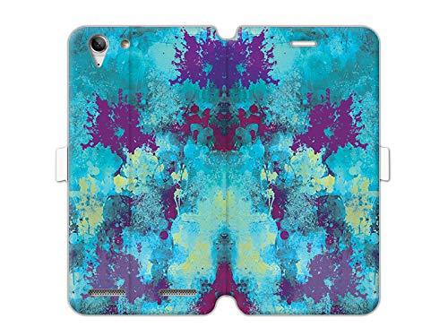 etuo Lenovo K5 Plus - Hülle Wallet Book Fantastic - Aquarellabstraktion - Handyhülle Schutzhülle Etui Case Cover Tasche für Handy