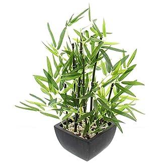 khevga Deko de bambú Planta en Maceta