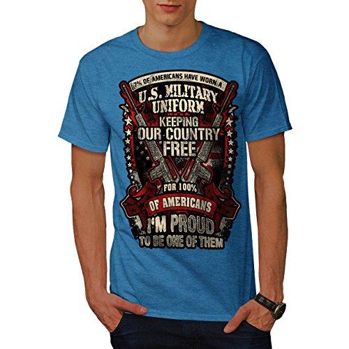 Wellcoda USA Militär Armee Amerika Männer 5XL T-Shirt (T-stücke Militär-grafische)