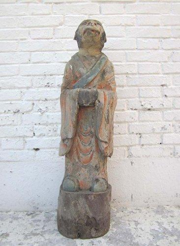 Sculpture chinois singe-astrologie tierzeichen 1920 peuplier peint ici à luxury park
