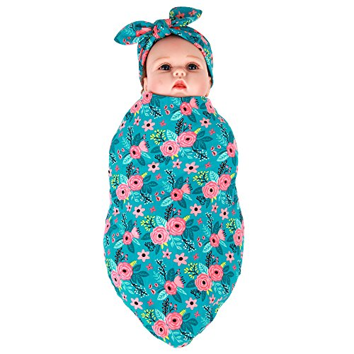 newborn-baby-infrant-coming-home-outfit-swaddle-blanket-and-headband-set-blue