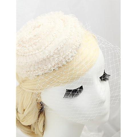 GAO&SP Copricapo Donne / Bambina Veli corti Matrimonio / Occasioni speciali Tessuto / A rete Matrimonio / Occasioni speciali 1 pezzo , ivory