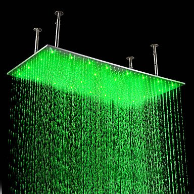 miaoge Regen Dusche modernes LED/Rainfall Edelstahl gebürstet
