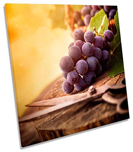 Geek-ernte (Ernte Trauben Vineyard Wein auf Leinwand, quadratisch Wand Kunstdruck Bild, 75cm wide x 75cm high)