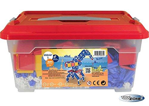 Preisvergleich Produktbild Seva Steckbaukasten 1064 Teile Stecksystem Motorikspielzeug Steckspiel in praktischer Box