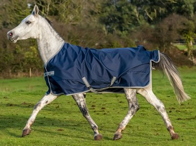 Bucas Freedom Turnout Pony Light - Navy/Silver, Groesse:105
