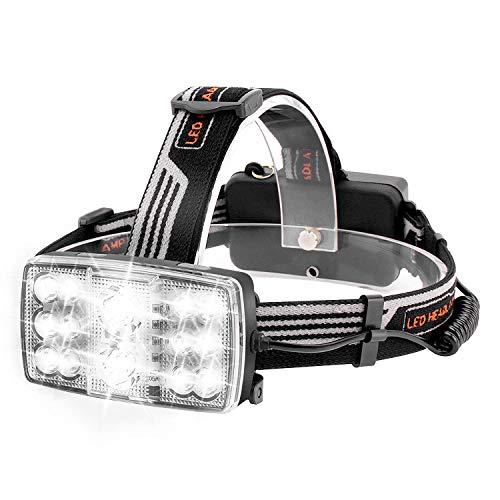MUTANG USB-wiederaufladbare Stirnlampe, superheller LED-Scheinwerfer, wasserdichter Verstellbarer Lichtwinkel-Scheinwerfer, Beste Stirnlampe für Radfahren, Klettern, Camping, Hundegehen, Wandern