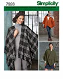 Simplicity 7928.OS Schnittmuster Poncho (Damen, Gr. One Size)