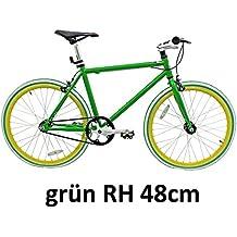 """Micargi 28"""" Singlespeed Fitnessrad Fahrrad Fixed Gear Rennrad Rahmenhöhe 48 oder 53cm"""