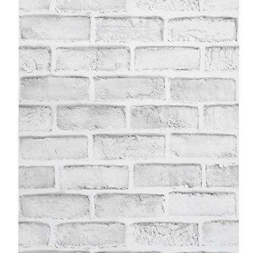 FTVOGUE Carta da Parati Mattoni 3D 10M Brick Stone Wallpaper 3D Effetto murale Decorativo Wall Sticker per la casa Cafe Bar Restaurant