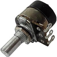 AERZETIX: Potenciómetro rotativo mono lineal 10k? 200mW con interruptor eje liso 6mm 10mm 18x18mm 200V AC C14978