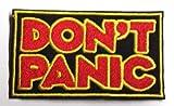 DOP, guía del autoestopista Galáctico de pánico a Galaxy bordado insignia parche para coser o planchar 9cm