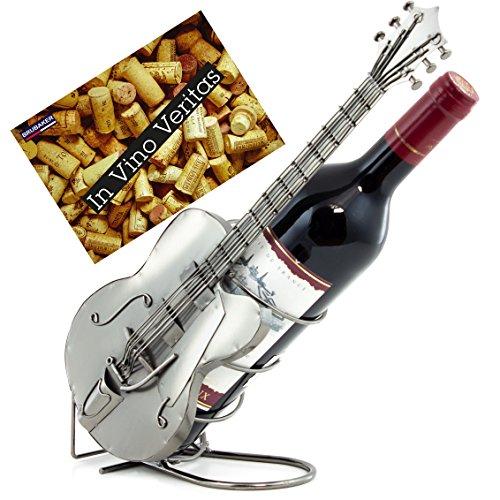 BRUBAKER Wein Flaschenhalter Gitarre Metall Skulptur mit Geschenkkarte
