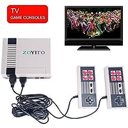 Clásico juego Console Retro Mini versión 620 Classic Games Retro Classic blanco y negro Game Console Sistema Built in 620 TV Video juego con controladores duales jugadores