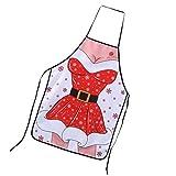 Sharplace Retro Küche Schürzen Kochen Salon Latzschürze Vintage Schürze Weihnachten Muster - 3