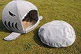 niceEshop(TM) Hai Form Haustier Hund Katze Nest mit Unterlage - 3