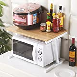CHUF Woody Kitchen Cabinet e contatore Shelf Organizer, White + Walnut